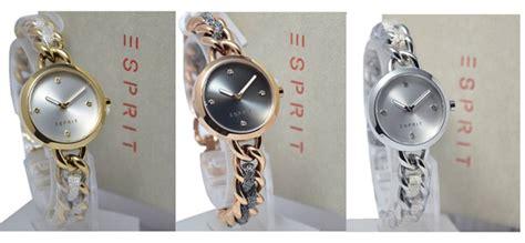 Jam Tangan Esprit Rantai Gold Rosegold Free Gelang jual esprit jam tangan wanita es107952002 gold murah