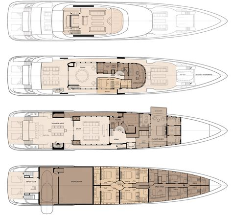 luxury yacht floor plans 50m acico luxury yacht concept floor plan yacht