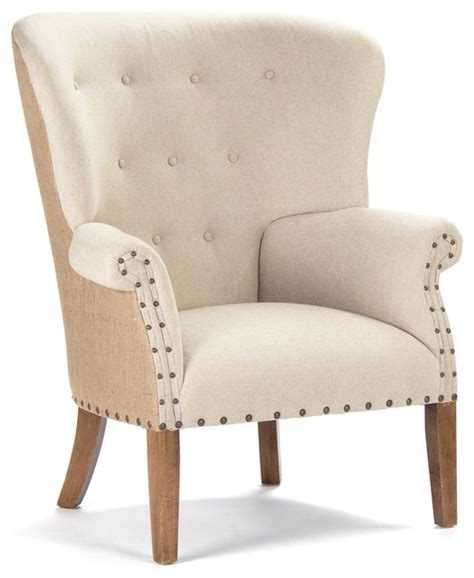 french linen armchair kathy kuo home morten masculine french linen burlap wing