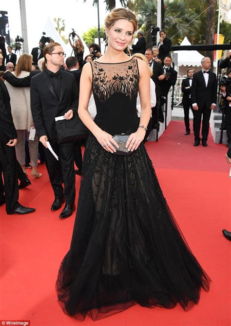 Mischa Barton Skirt See Through Top And Still Nothing by Mischa Barton Reveals A Hint Of Cleavage In Black Gown At