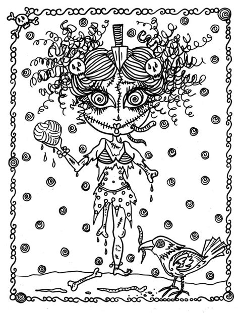 advanced halloween coloring pages to print halloween coloring book page fantasy fantasie фэнтези