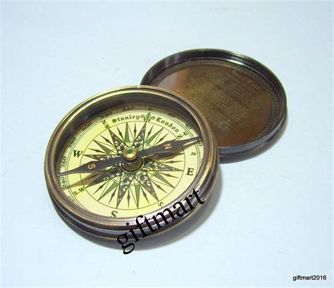 old boat compass marine brass compass antique poem compass nautical pocket