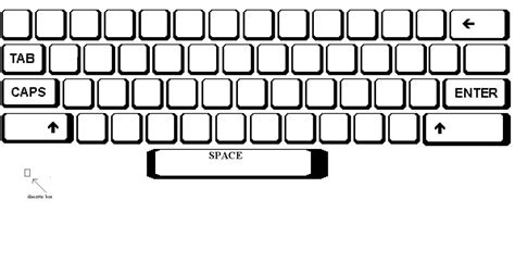 Blank Map Of A Qwerty Keyboard As A Template For Keyboard Maps Visions Pinterest Computer Computer Keyboard Template