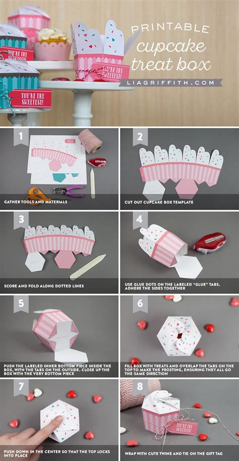 Box Cupcakes printable cupcake boxes diy bakery favor boxes