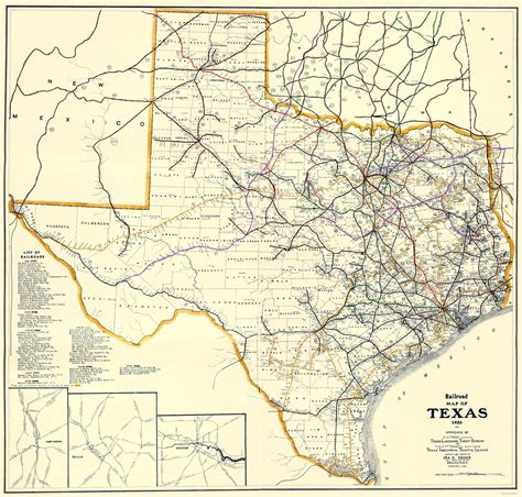 texas rail map railroad maps texas railroads tx by dodge 1926