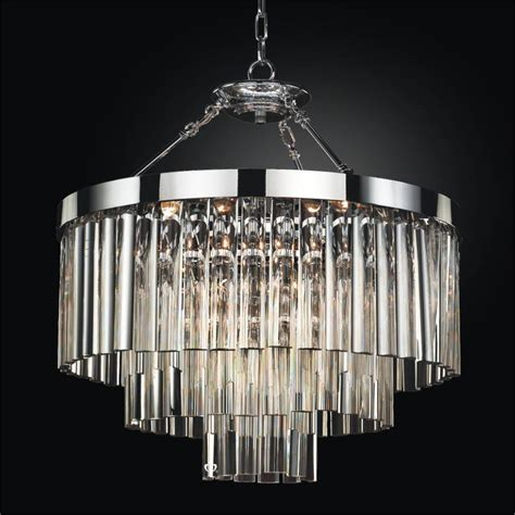 Contemporary Pendant Chandelier With Optic Crystal Wind Semi Flush Chandelier