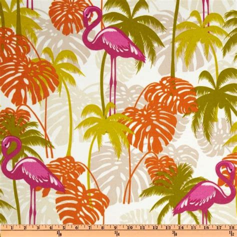 Floral Upholstery Fabric Australia by Australia Bold Modern Flamingo Bird Tropic Leaf Floral Magenta Fuschia Tangerine Citron Lime