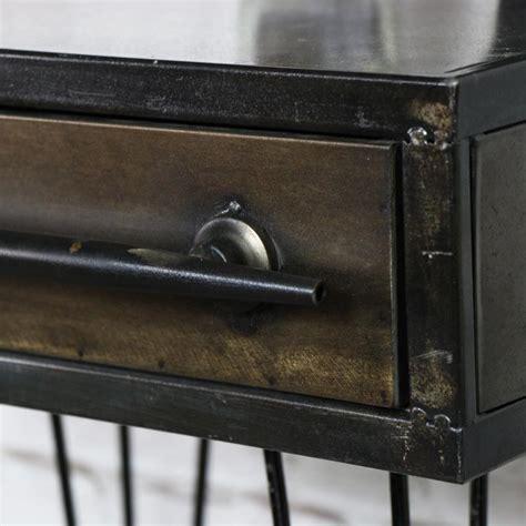 retro industrial metal bedside table windsor browne