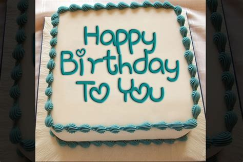 Write a greeting on the birthday cake