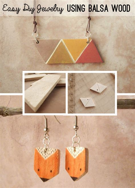 how to make wooden jewelry make geometric modern jewelry with balsa wood