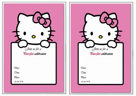 printable birthday invitation cards hello kitty hello kitty birthday invitations birthday printable