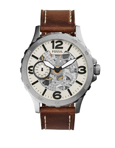 Fossil Me3129 Nate Wound Mechanical Silver Silver Stainless upc 796483263611 fossil nate automatic brown leather me3128 beige upcitemdb