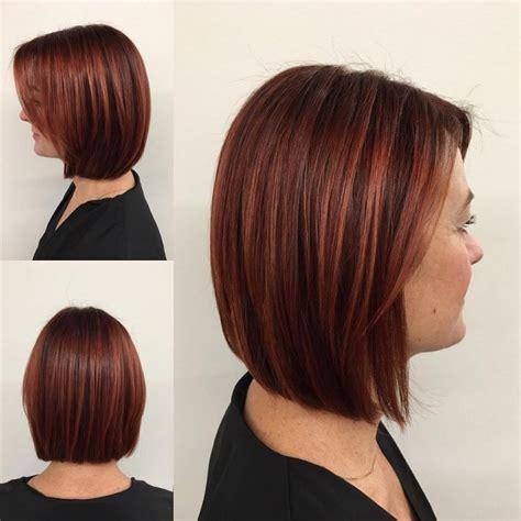 sexy bob haircut with chunky red highlites 30 tagli di capelli medi per sistemare la vostra chioma folta