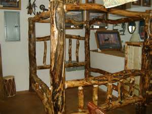 Log Canopy Bed Made Gnarly Aspen Log Canopy Bed By Ireland S Wood