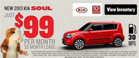 Kia 99 A Month Lease Get A New Kia Soul For Just 99 A Month Fred