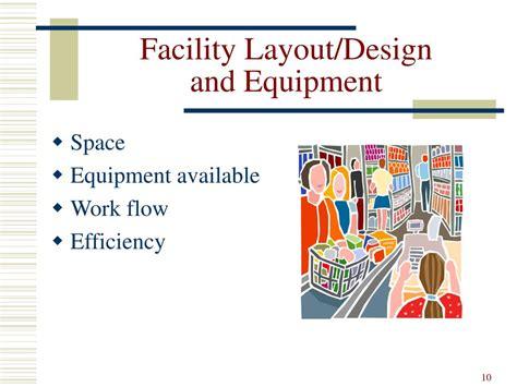 facility layout presentation ppt menu planning powerpoint presentation id 288566