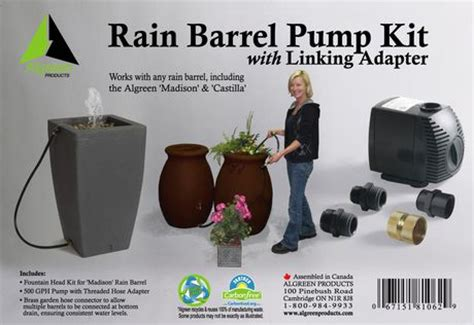 algreen gph rain barrel pump kit walmartca