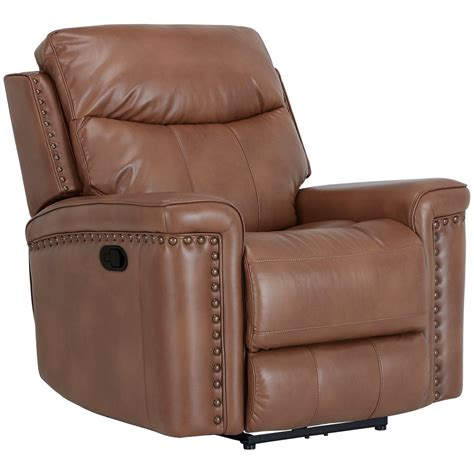 microfiber glider recliner city furniture wallace medium brown microfiber glider
