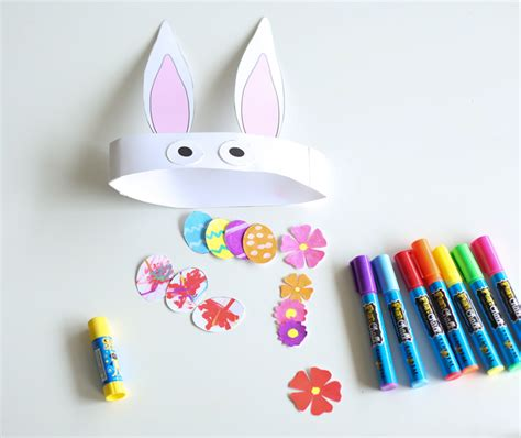 easter bunny hat template bunny hat easter activity with