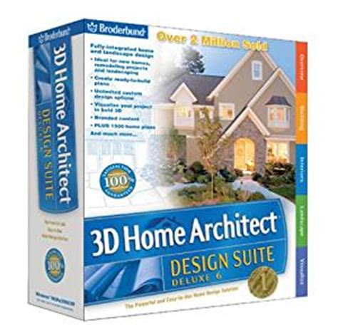 3d home architect design suite 6 amazon com broderbund 3d home architect design suite