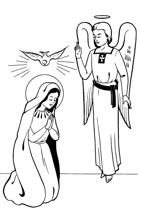coloring pages of the angel gabriel annunciation coloring pages family in feast and feria