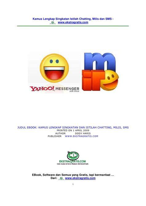 Kamus Istilah Ilmu Dan Teknologi kamus istilah chatting dan sms