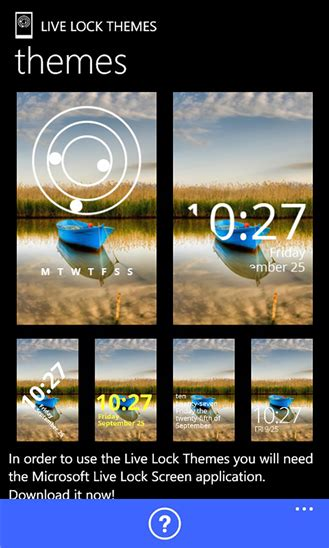 live lock themes windows phone live lock themes app for windows phone 8 1 live lock