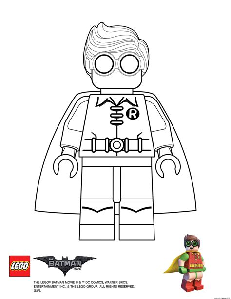 robin lego batman movie coloring pages printable