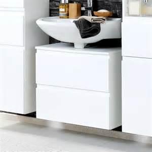 waschbeckenunterschrank weiß mit schubladen waschbeckenunterschrank concetada in hochglanz wei 223