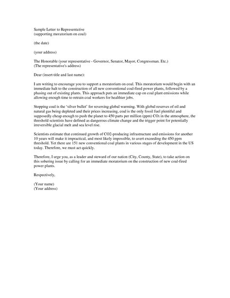 letter to a congressman template letter to senator format best template collection