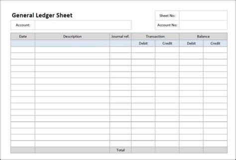12 Excel General Ledger Templates Excel Templates General Ledger Template Excel