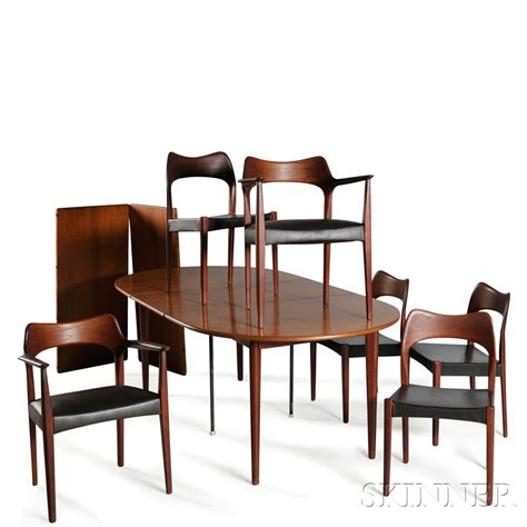Scandinavian Dining Table And Chairs Scandinavian Design Dining Table And Six Chairs Sale Number 2870b Lot Number 521 Skinner
