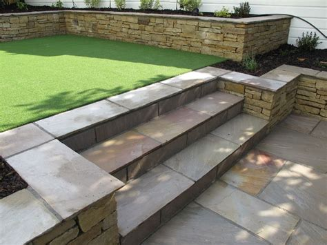 Split Level Garden Ideas Split Level Low Maintenance Garden Scheme With Sandstone Patios And Raised Planters Www