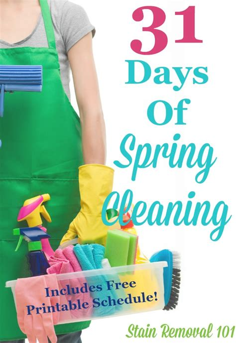spring house cleaning 31 days of spring cleaning get the plan here