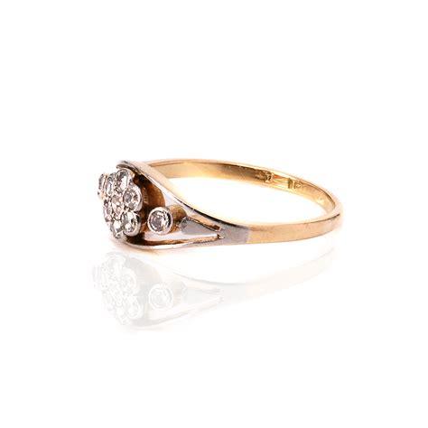unique deco engagement rings unique deco cluster engagement ring