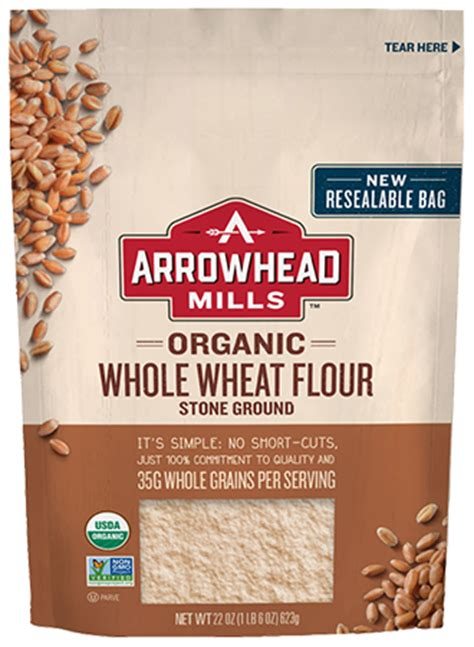producers organic wheat flour millers stone ground organic whole wheat flour stone ground arrowhead mills