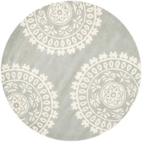 10 ft diameter rug safavieh collection bel121a handmade grey and ivory