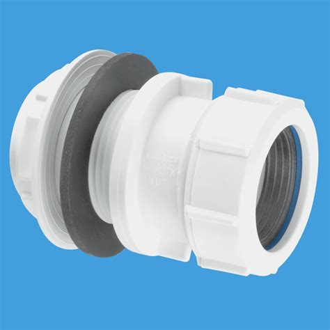 Plastic Plumbing Connectors by Mcalpine 1 1 2 Compression Waste Pipe Tank Connector T11m