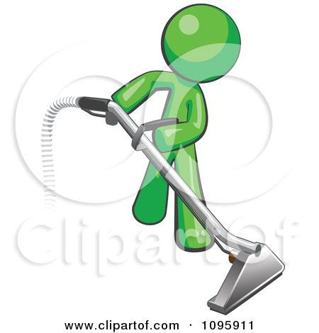 Karpet Karakter Tobot clipart green using a carpet cleaner wand royalty
