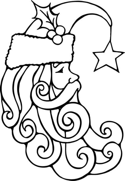 german santa coloring page santa face cliparts co