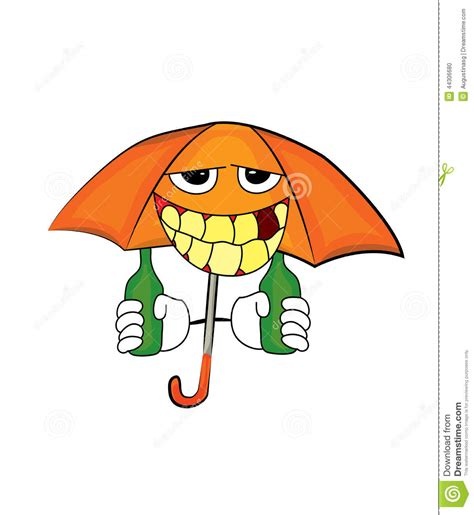 umbrella drink svg drinking umbrella cartoon stock illustration illustration