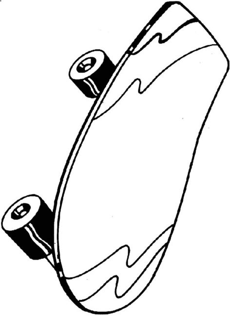 Skateboard coloring pages to download and print for free