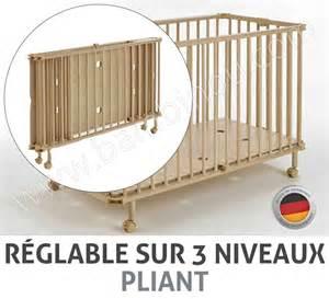 lit pliant bois pour bebe