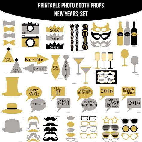 printable new years eve photo booth props 2016 17 mejores im 225 genes sobre moda hipster en pinterest