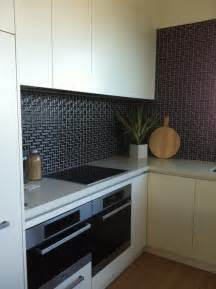 black kitchen tiles ideas black l mosaic tiles for a kitchen splashback for the