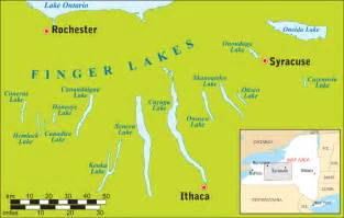 Finger Lakes New York Map by Finger Lakes Directions Maps Distances And How To Get