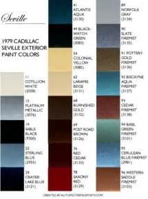 paint color sles 1979 cadillac seville paint codes
