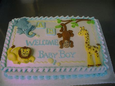Blue Zoo Baby Shower Decorations by Blue Zoo Baby Shower Babies Cake And