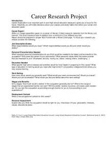 High School Research Paper Assignment by Career Research Project