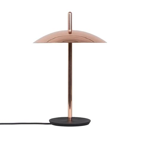 signal table l from souda modern copper led table